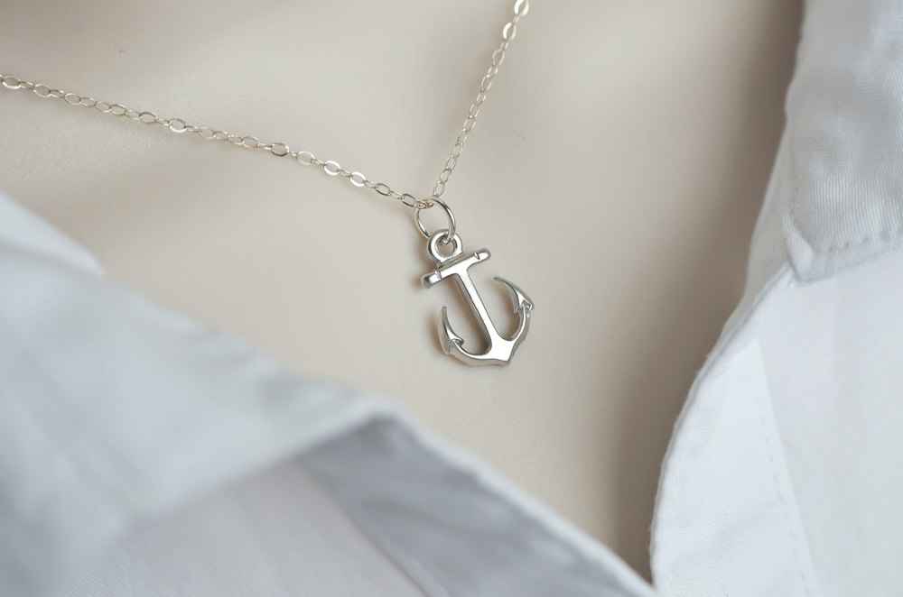 Anchor necklace minimalist modern anchor necklace dainty for Women s minimalist jewelry